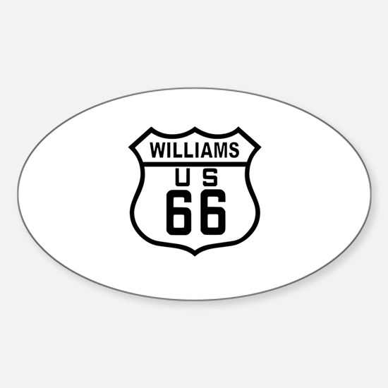 Williams, Arizona Route 66 Oval Decal