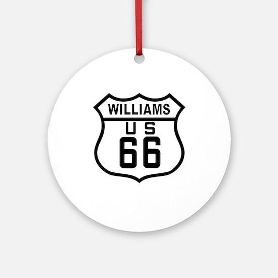 Williams, Arizona Route 66 Ornament (Round)