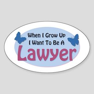 Grow Up: Lawyer Oval Sticker