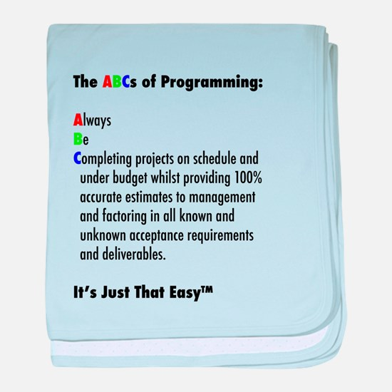 The ABCs of Programming baby blanket