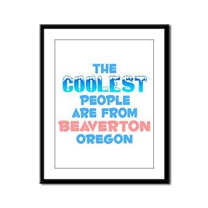 Coolest: Beaverton, OR Framed Panel Print
