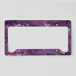 Camouflage: Violet License Plate Holder