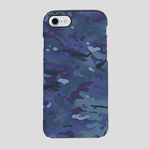 Camouflage: Deep Blue iPhone 8/7 Tough Case