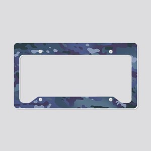 Camouflage: Deep Blue License Plate Holder
