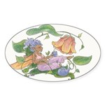 Bloom, with Tea Oval Sticker