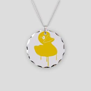 Rubber Ducky Graffiti Pop Ar Necklace Circle Charm