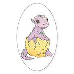 Baby Dragon's Oval Sticker