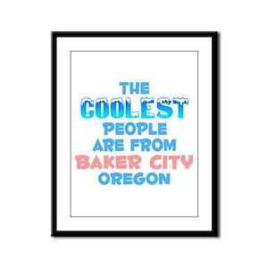 Coolest: Baker City, OR Framed Panel Print