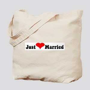 Just Married (heart)  Tote Bag
