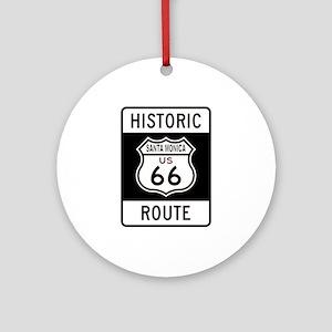 Santa Monica Historic Route 6 Ornament (Round)