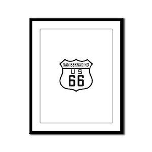 San Bernadino Route 66 Framed Panel Print
