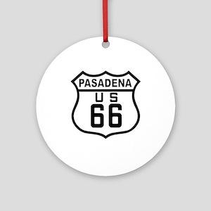 Pasadena Route 66 Ornament (Round)