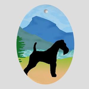 Wild River Wire Fox Terrier Oval Ornament