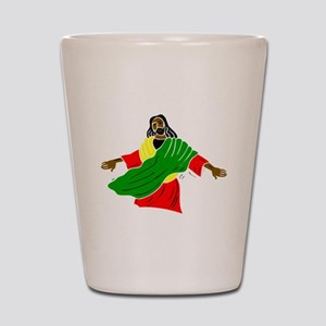 African American religion Shot Glass