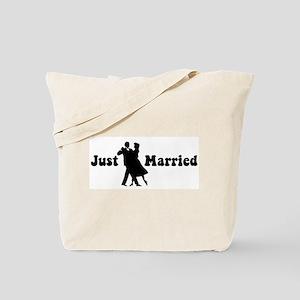 Just Married (dancing) Tote Bag
