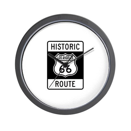 Los Angeles Historic Route 66 Wall Clock