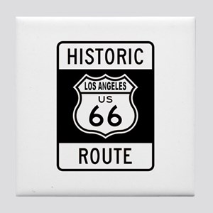 Los Angeles Historic Route 66 Tile Coaster