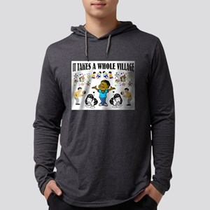 African proverb, it takes a wh Long Sleeve T-Shirt
