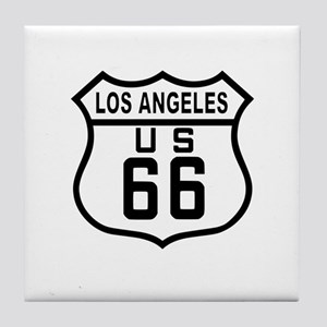 Los Angeles Route 66 Tile Coaster