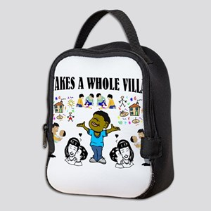 African American Neoprene Lunch Bag