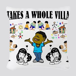African American Woven Throw Pillow