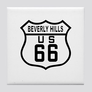 Beverly Hills Route 66 Tile Coaster