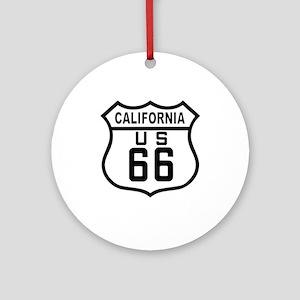 California Route 66 Ornament (Round)
