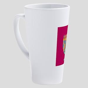 Hanukkah Menorah Kibbitz 4Josh 17 oz Latte Mug