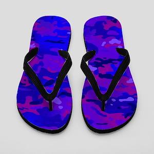 860b3db47 Camouflage Dark Flip Flops - CafePress