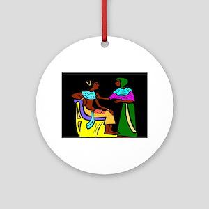 Black Egyptians Round Ornament