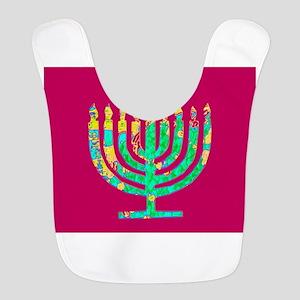 Hanukkah Menorah Kibbitz 4Josh Polyester Baby Bib