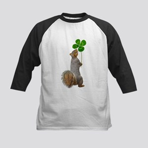 Squirrel 4 Leaf Clover Baseball Jersey