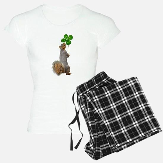 Squirrel 4 Leaf Clover Pajamas