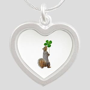 Squirrel 4 Leaf Clover Necklaces