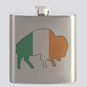 Buffalo Irish Flag Flask