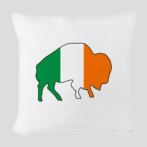 Buffalo Irish Flag Woven Throw Pillow