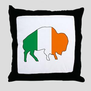 Buffalo Irish Flag Throw Pillow