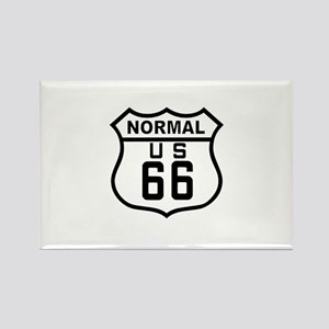 Normal Route 66 Rectangle Magnet