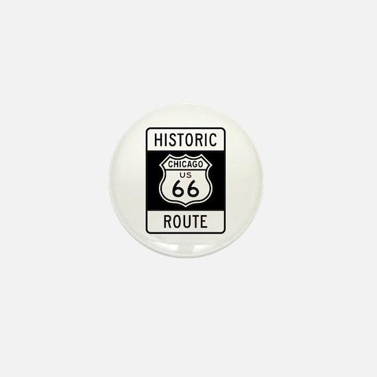 Chicago Historic Route 66 Mini Button