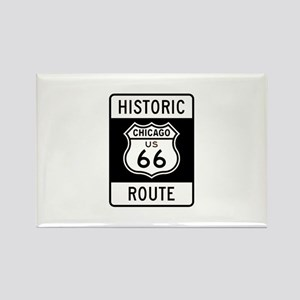 Chicago Historic Route 66 Rectangle Magnet