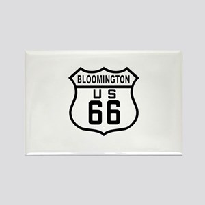 Bloomington Route 66 Rectangle Magnet
