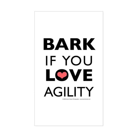 Bark if You Love Agility Rectangle Sticker