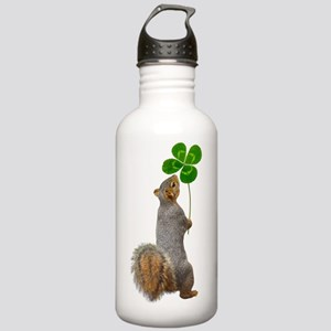Squirrel 4 Leaf Clover Water Bottle