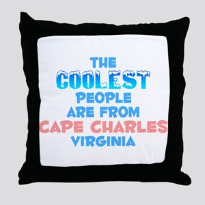 Coolest: Cape Charles, VA Throw Pillow
