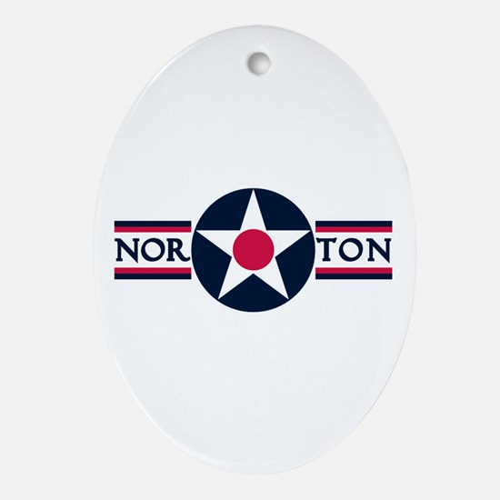 Norton Air Force Base Oval Ornament