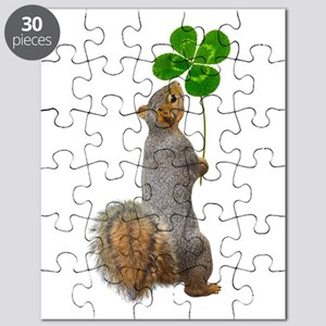 Squirrel 4 Leaf Clover Puzzle