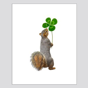 Squirrel 4 Leaf Clover Posters