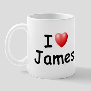I Love James (Black) Mug