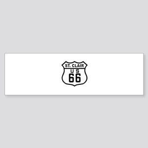St. Clair Route 66 Bumper Sticker
