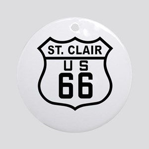 St. Clair Route 66 Ornament (Round)
